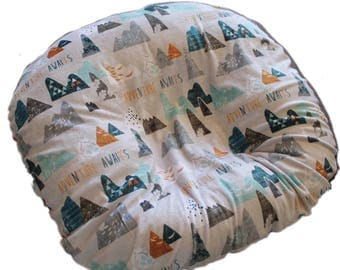 boppy lounger cover- mountain minky  cover-mountains minky boppy lounger cover-all minky cover-SHIPS TODAY
