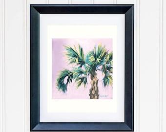 Banana Leaf Wall Print, Tropical Banana Tree Painting, Green Tropical Leaves Print, Beach House Decor, Modern Botanical Wall Decor Art