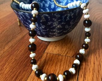 What the Wood Beaded Necklace