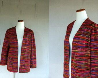 Vintage Blazer / 60s Psychedelic Jacket / Small