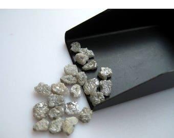 ON SALE 55% White Diamond, Rough Diamond, Raw Diamond, Uncut Diamond, 2 Pieces, 5mm Each Approx
