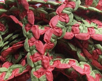 SALE 5.yard piece melon green ribbon finishing trim item #A21