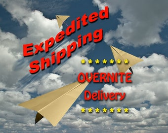 Expedite Shipping Upgrade to USPS Next Day Shipping within USA Only