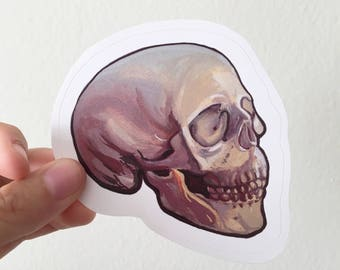 Human Skull Painting Colorful Sticker, Laptop Sticker, Water Bottle Sticker, Vinyl Sticker, Cool Sticker, Unique Sticker, Awesome Sticker