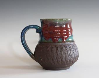 Coffee Mug, 13 oz, handthrown ceramic mug, stoneware pottery mug, unique coffee mug, stoneware mug, coffee mug pottery, pottery mug