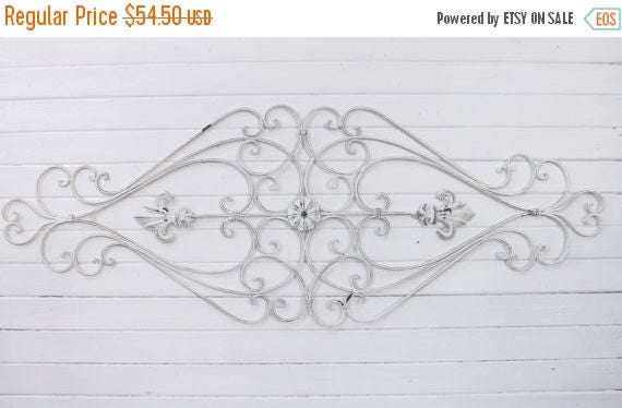 ON SALE Shabby Chic Wrought Iron / Wrought Iron Wall Hanging