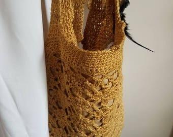 hand made unique crochet bag