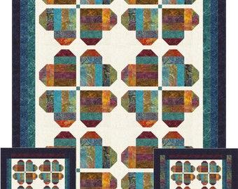 Flower Hearts Quilt ePattern, 5101-1, heart lap quilt pattern, pieced lap quilt pattern, jelly roll friendly quilt, precut strips