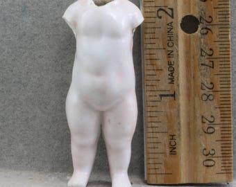 Excavated Antique Porcelain German Doll Frozen Charlotte Miniature Doll Oscarcrow 1860-1880 Vintage Doll Altered art