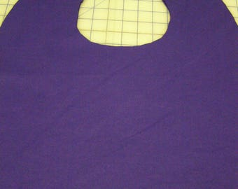 Purple Adult Shirt Protector Special Needs Bib extra long reversible