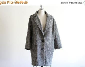 25% OFF Vintage Wool Blend Tweed Coat/ Slouchy / Made in the USA