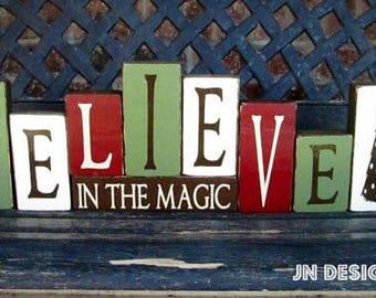 Christmas blocks--Believe in the Magic