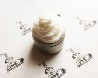 Rubber Cement Whipped Body Butter - Scented Vegan Whipped Shea Butter - Natural Body Butter - Whipped Lotion - Tin Jars