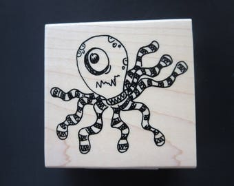 Dyan Reaveley's DylusionsOctopus Mounted Stamp - DYW41955 - Retail Price 7.99 - Bluebrit Price 4.99