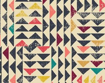 INDIE FOLK  Art Gallery Fabrics, Pat Bravo, Trojkat Sunrise, Fabric By the Yard, Boho Baby Quilt, Cotton Fabric, Boho Nursery, Triangles