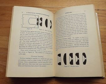 Vintage Watch Book, Horology Book for the Man Cave, How To Watch Repair Book, First Edition Hardback Watch Book, Instructional Antique Book