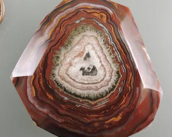 Crazy Lace Agate Cab, Crazy Lace Energy Vortex Cab, Crazy Lace Cab, Banded Crazy Lace, Pendant Cab, Gift, C2287, Handcrafted by 49erMinerals