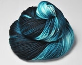 Cataclysmic maelstrom OOAK - Merino/Silk Fingering Yarn Superwash - Hand Dyed Yarn