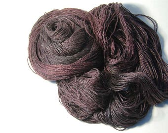 Silk from Land and Sea FINGERING in Grey Damask Rose - One of a Kind