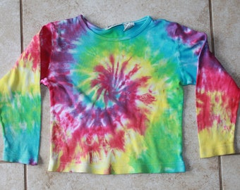 Tie Dye girls 5/6 shirt upcycled