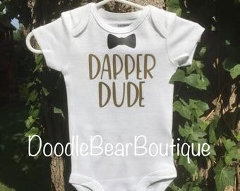 Baby Onesie- dapper dude