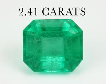 Loose Emerald Cut, 2.41 Cts Loose Faceted Gemstone, Genuine Emerald Beryl, Asscher Cut Emerald, Emerald Jewelry Supplies, May Birthstone