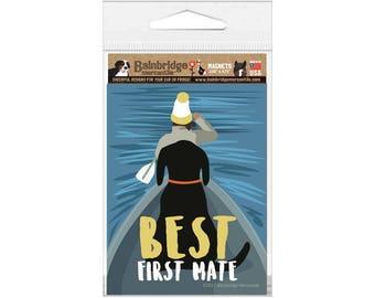 """Best First Mate - Magnet 3.56"""" x 4.75"""""""