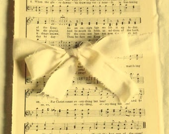 Vintage Hymn Pages from Broadman Hymnal, Old Christian Music Pages, 1940 Church Songs, Vintage Paper Ephemera, Paper Crafting Supply