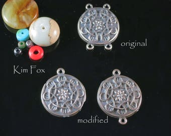 Celtic Flower Adjustable Bail/Pendant in Sterling Silver designed by Kim Fox