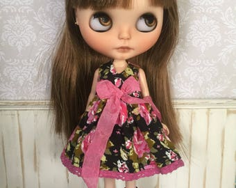 Blythe Dress - Hot Pink and Black Floral