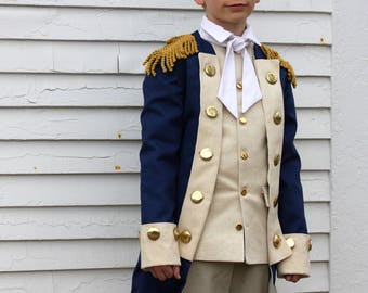 George Washington Costume - Alexander Hamilton Costume - READY TO SHIP - Choose Your Size - Revolutionary War