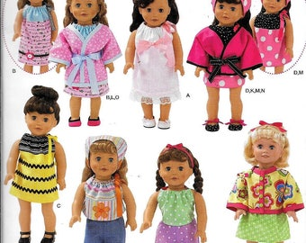 "Simplicity 2302 / 0482 18"" Doll Clothes Outfits & Shoes Sewing Pattern American Girl Gotz"