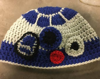 This Is The Hat You're Looking For- R2D2 Crochet Beanie