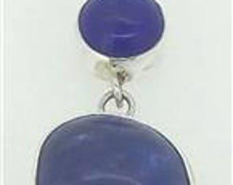 Lapis luzuli Pendant 925 Sterling Silver Jewelry E1163