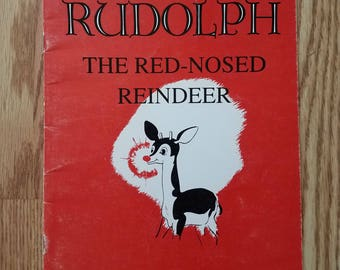 Vintage Rudolph the Red Nosed Reindeer Book