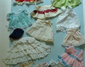 12 Piece Vintage Doll Clothes Lot