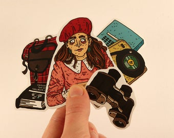 wes anderson stickers laptop labels tags moonrise kingdom illustration