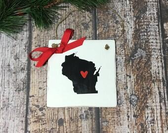 Wisconsin ornament   Etsy