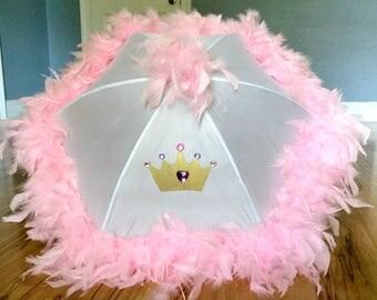 Princess Dress Up Parasol Umbrella- Costume Accessory- Princess Party Centerpiece- Princess Gifts Birthday Girl Queen Crown Royal Decor