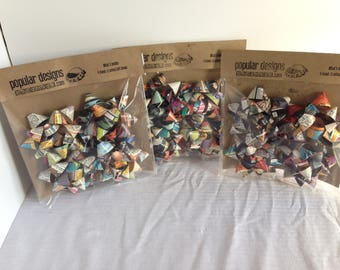 4-pack Comic Gift Bows / Recycled comic / handmade gift bow