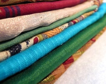 ilovesales Fabric Grab Bag- 10 assorted Fabric scraps for Quilting, crafts (Lot 3)