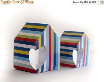 Printable Heart House 3D Cards, Rainbow Houses Cards, Printable Cards DIY kits, Love Cards PRINTABLE,  House ornament