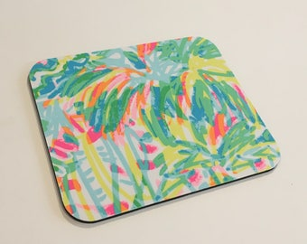 Lilly Pulitzer Fabric Mouse Pad Multi Sun and Sea
