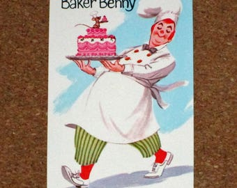 Vintage Old Maid Game Replacement Card - Whitman - Baker Benny