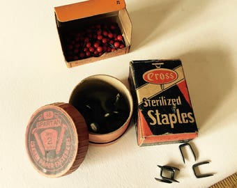 You Choose - Vintage 1950s Hardware Store Items Map Tacks Staples Pins Fasteners - S1-L1