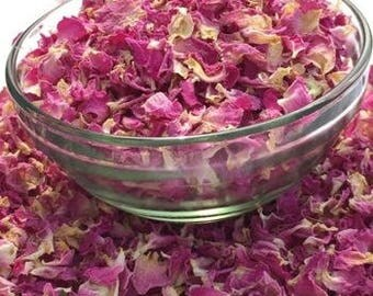 EDIBLE ROSE PETALS Tea Organic Bulk Pink Red, 1-10 Cup Culinary Cake Decor Topper Sprinkle Dried Herb Dessert 1 2 3 4 5 6 8 10 oz