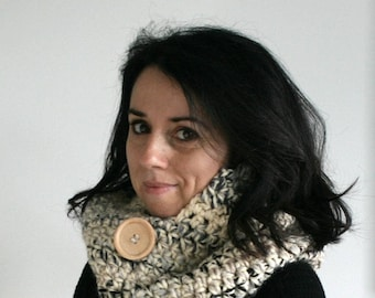 Hooded Scarf,Hooded Cowl,Chunky Cowl,Winter Accessory//Moonlight //The Jackson Hood