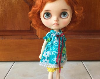 StableHouse Blue top and balloon short pants for Neo Blythe Doll