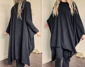 The Maxi Poncho Shawl (with sleeves) coverup