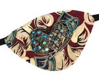 Eye Patch Hearts Jewel Fashion Fantasy Eyepatch Pirate Steampunk Rhinestone Glitz